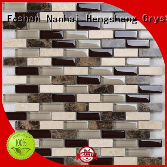 beveling white glass tile hexagon supplier for villa