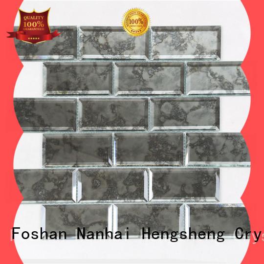 Heng Xing metal glass mosaic hebei factory for kitchen