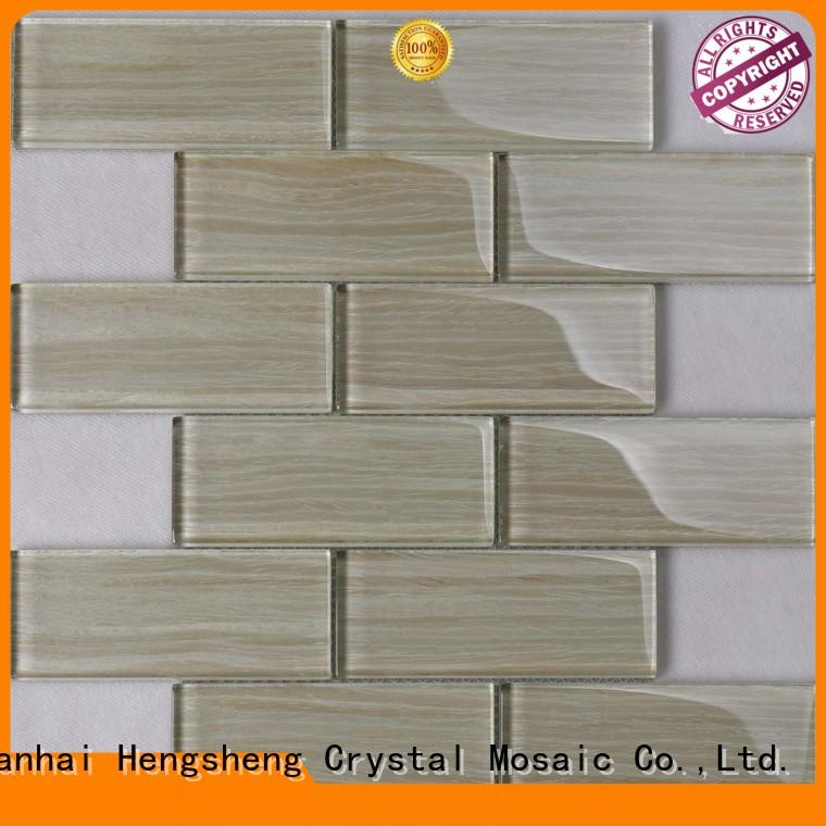 Heng Xing 3x4 large glass mosaic tiles personalized for villa