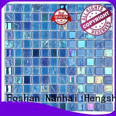 Heng Xing herringbone white glass tile supplier for kitchen
