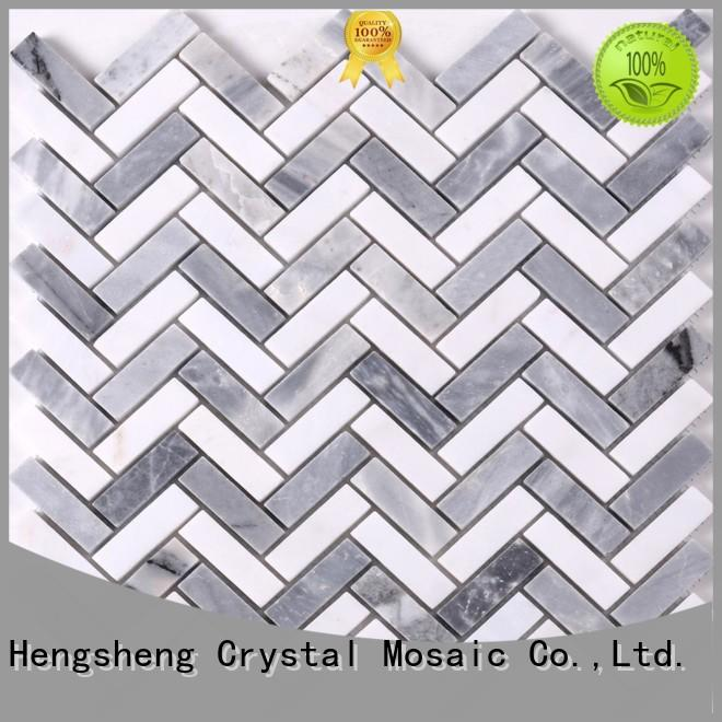 2x2 stone mosaic hexagon with good price for hotel