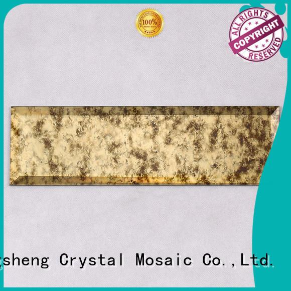 Heng Xing 3x4 black glass mosaic tile factory for kitchen