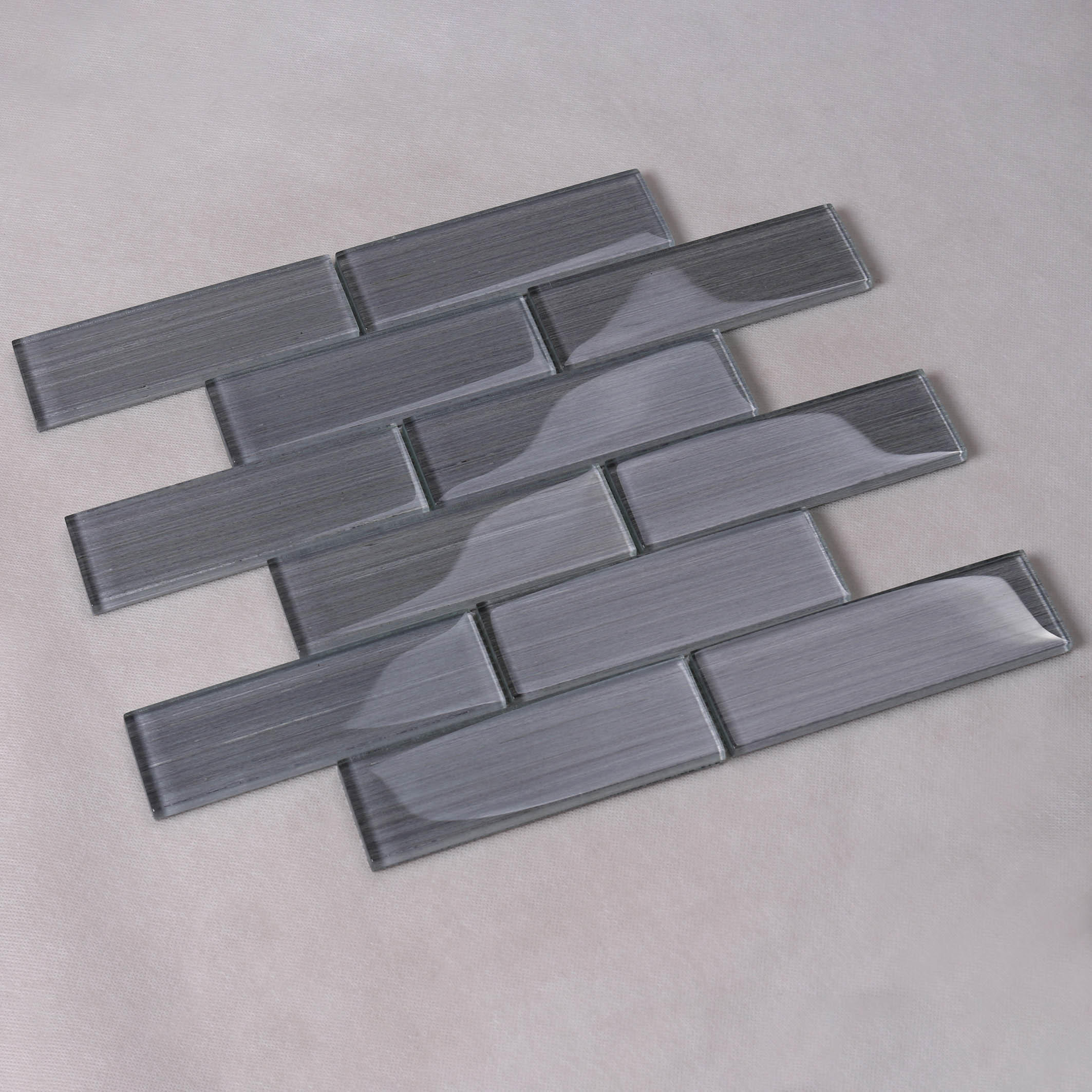 Heng Xing electroplated teal glass tile factory for hotel-2