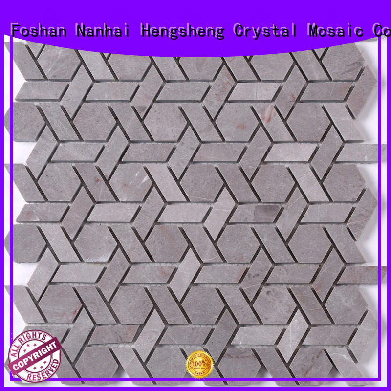 2x2 glass stone mosaic tile gray manufacturers for bathroom