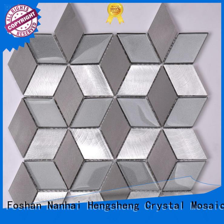 Heng Xing grey glass mosaic tiles customized for villa