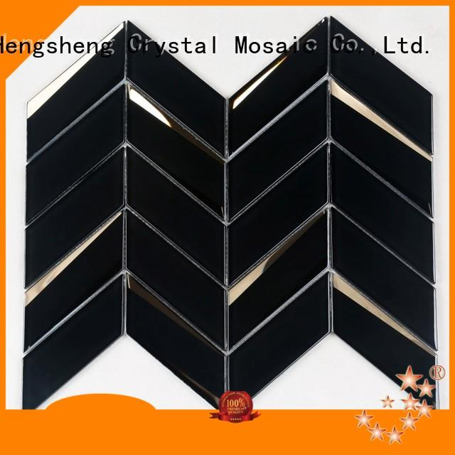 pattern white glass backsplash factory price for bathroom Heng Xing
