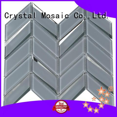 beveled green glass tile cold supplier for living room