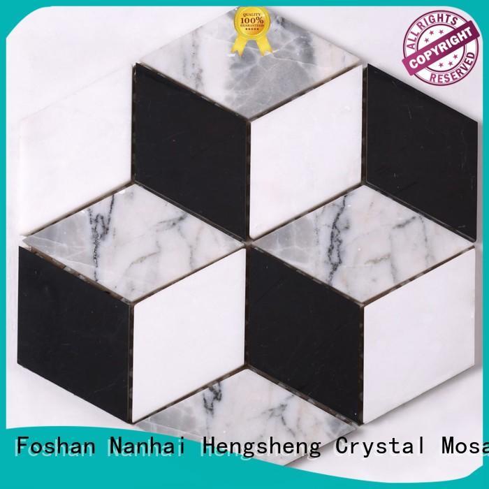 Heng Xing black copper mosaic tile sheets manufacturer for hotel