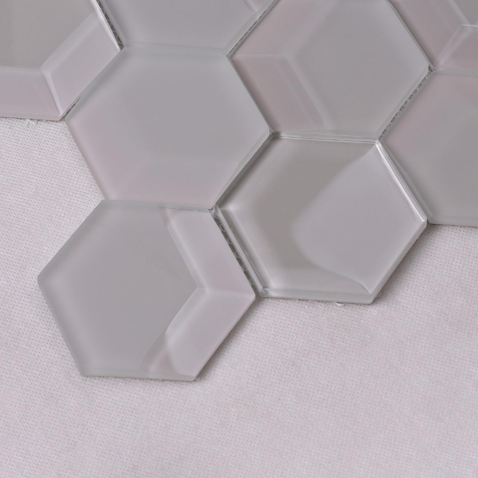 grey 3d mosaic tile splash for hotel Heng Xing-3