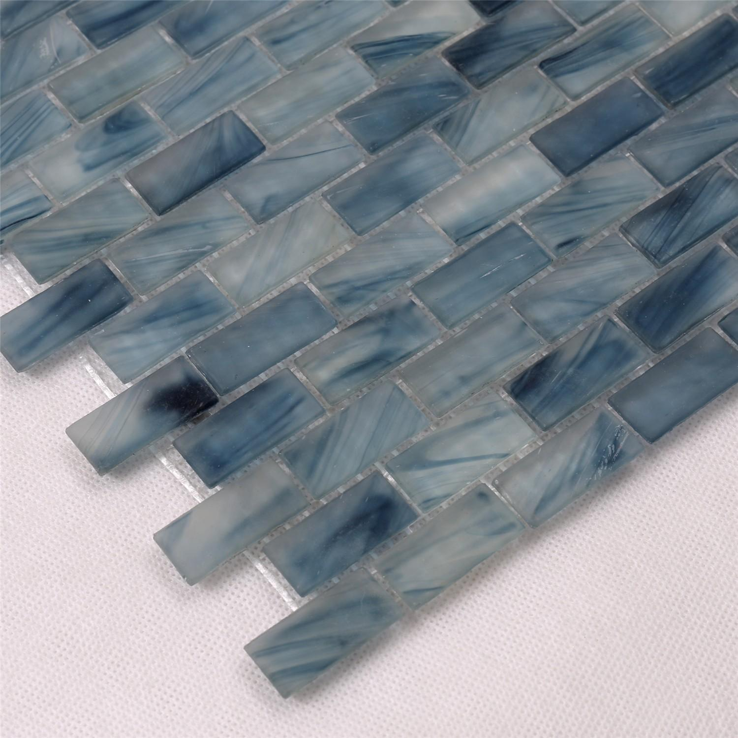 High-quality mosaic tiles online glass wholesale for swimming pool-3