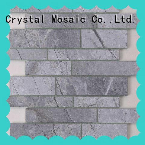 Heng Xing white gray glass subway tile backsplash for business