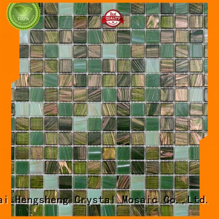 Heng Xing light copper mosaic tiles Supply for spa