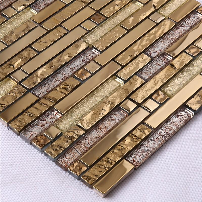 Heng Xing crystal black glass tile backsplash factory for living room-3