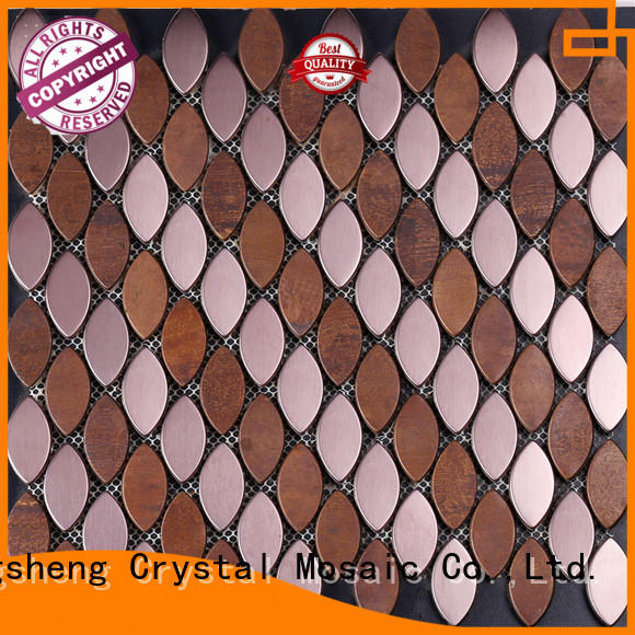 Heng Xing gray chinese glass mosaic tiles factory company for backsplash