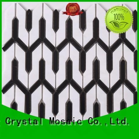 Heng Xing black decorative mosaic tiles design for kitchen