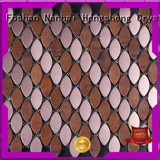 Heng Xing white glass mosaic manufacturer for backsplash