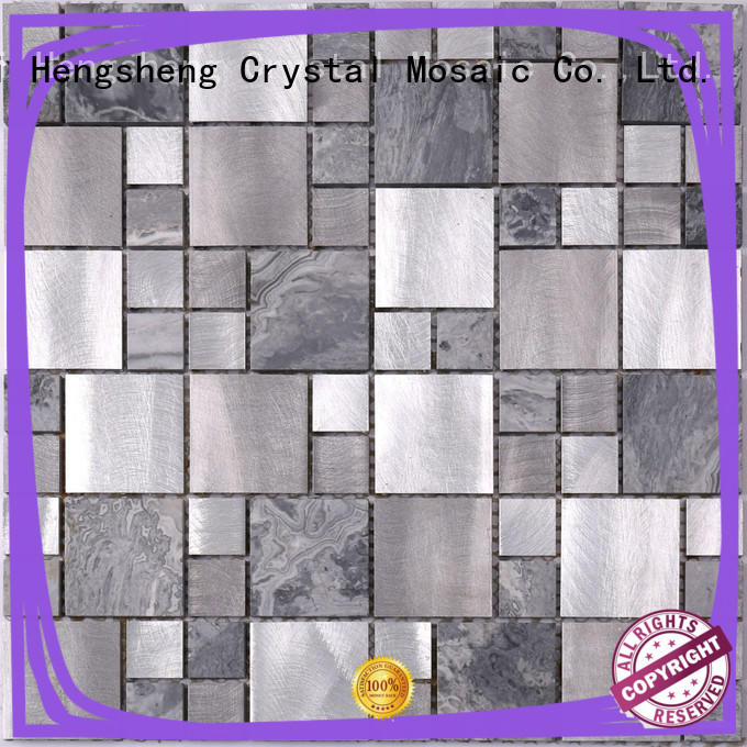 Heng Xing rose metal wall tiles Supply for hotel