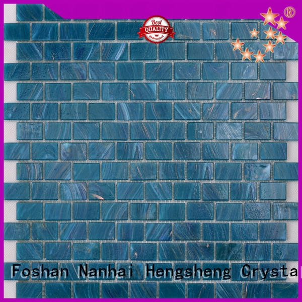 Heng Xing nm766 pool glass tile personalized for fountain