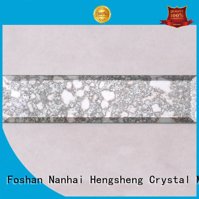 Antique Mirror Grey Beveled Glass Mosaic Tile