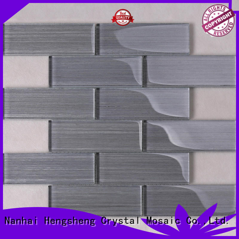 Heng Xing beveling slate mosaic tile factory price for hotel