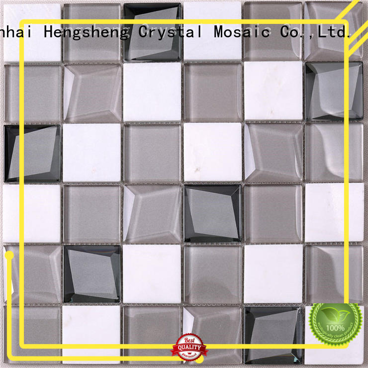 Heng Xing stone metallic glass tile personalized for living room