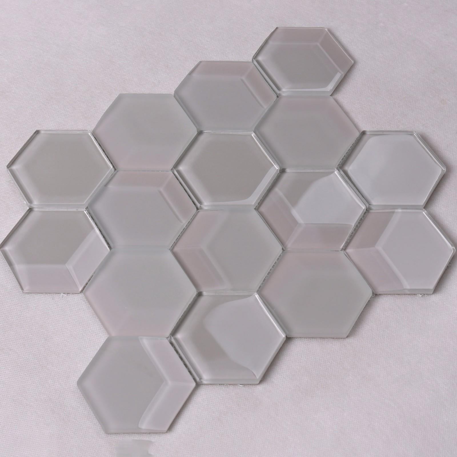 grey 3d mosaic tile splash for hotel Heng Xing-2
