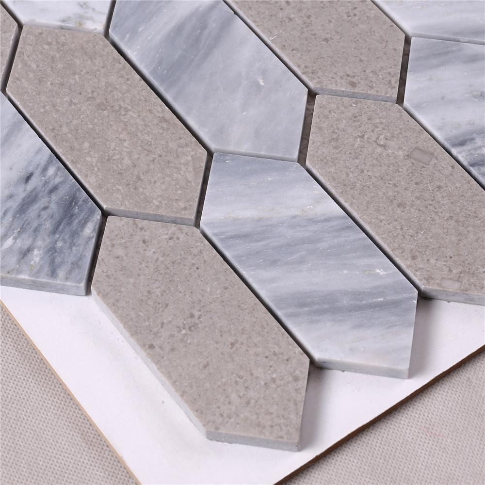 marble mosaic style tiles white factory for bathroom-3