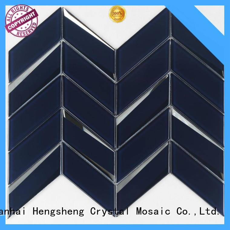 square glass mosaic tile sheets personalized for living room Heng Xing