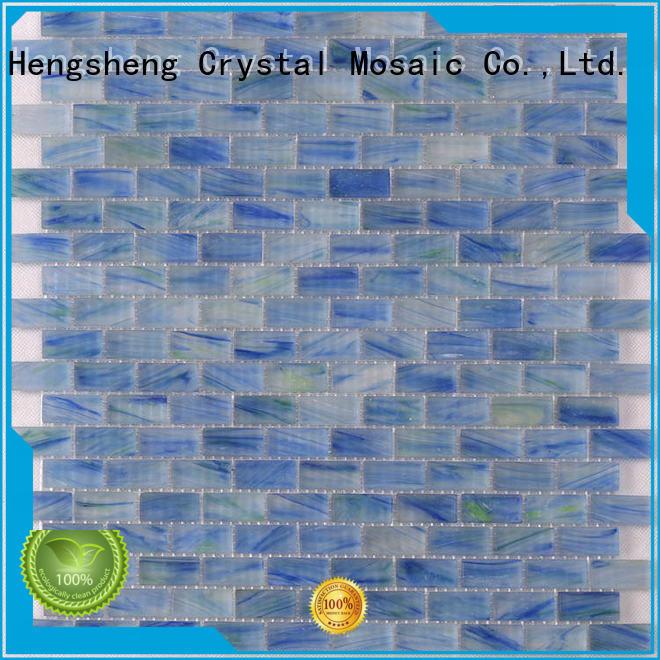 Best blue glass tiles floor wholesale for fountain