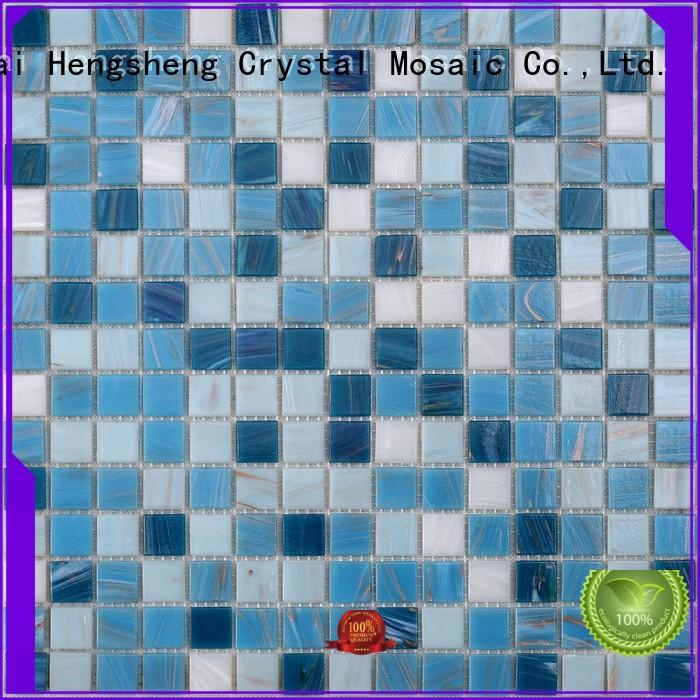 2x2 light blue glass tile factory price for swimming pool