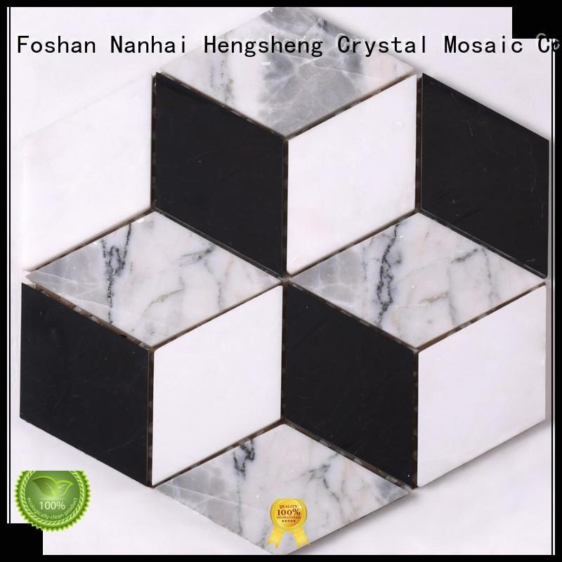 3x3 stone mosaic tile floor Supply for kitchen