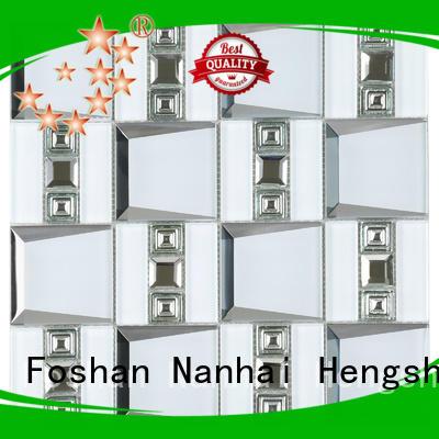 Heng Xing hmb23 blue mosaic tile Suppliers for villa
