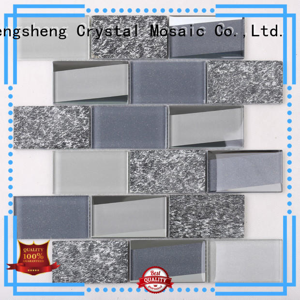 Custom square mosaic tiles pattern wholesale for living room