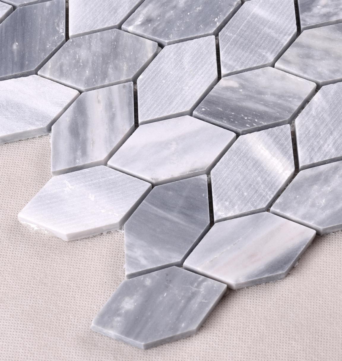Heng Xing white marble glass mosaic tile design for living room-2