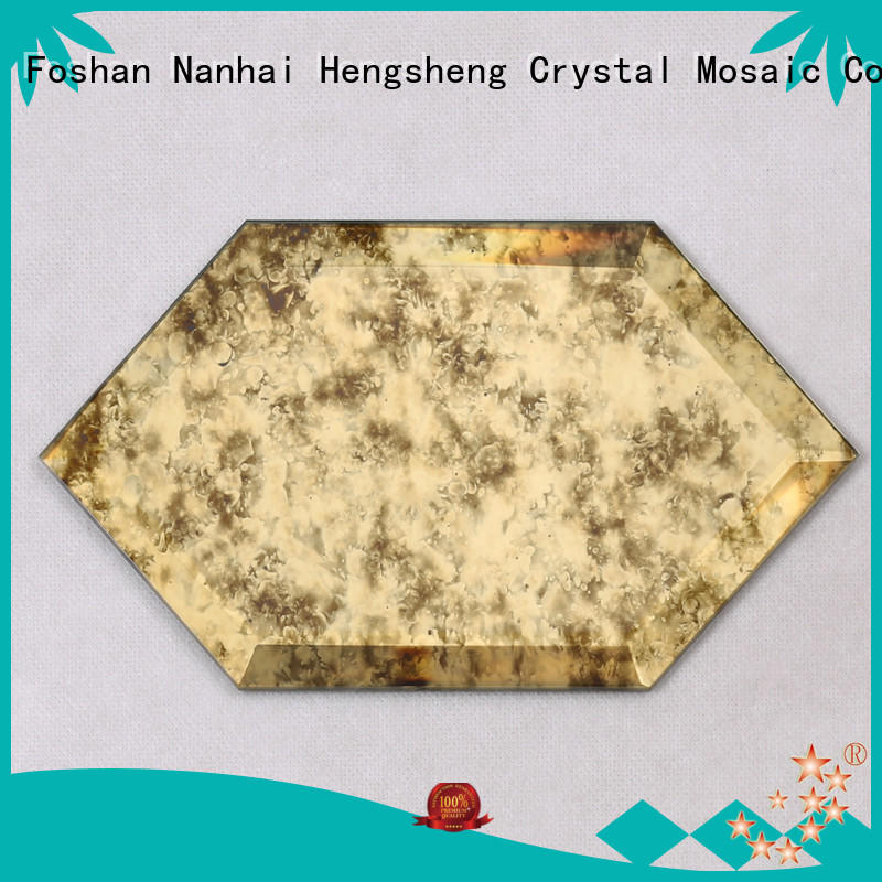 3x3 mosaic glass herringbone personalized for living room