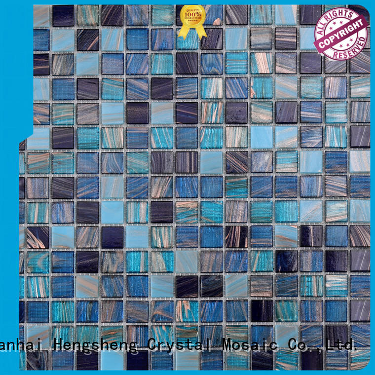 Heng Xing na673 iridescent glass mosaic tile manufacturers for bathroom