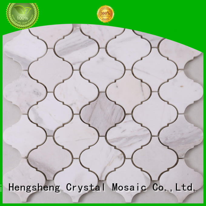 Heng Xing 3x3 glass stone mosaic tile factory for living room
