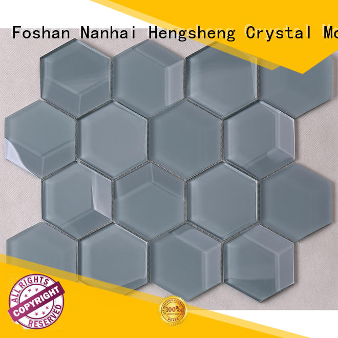 Heng Xing metallic color glass tile wholesale for kitchen