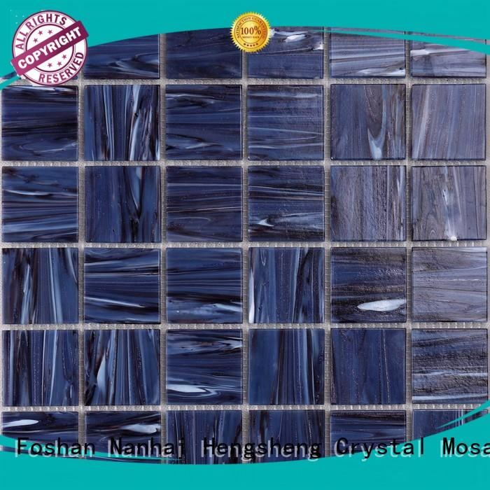 Heng Xing 2x2 dark blue mosaic tile wholesale for fountain