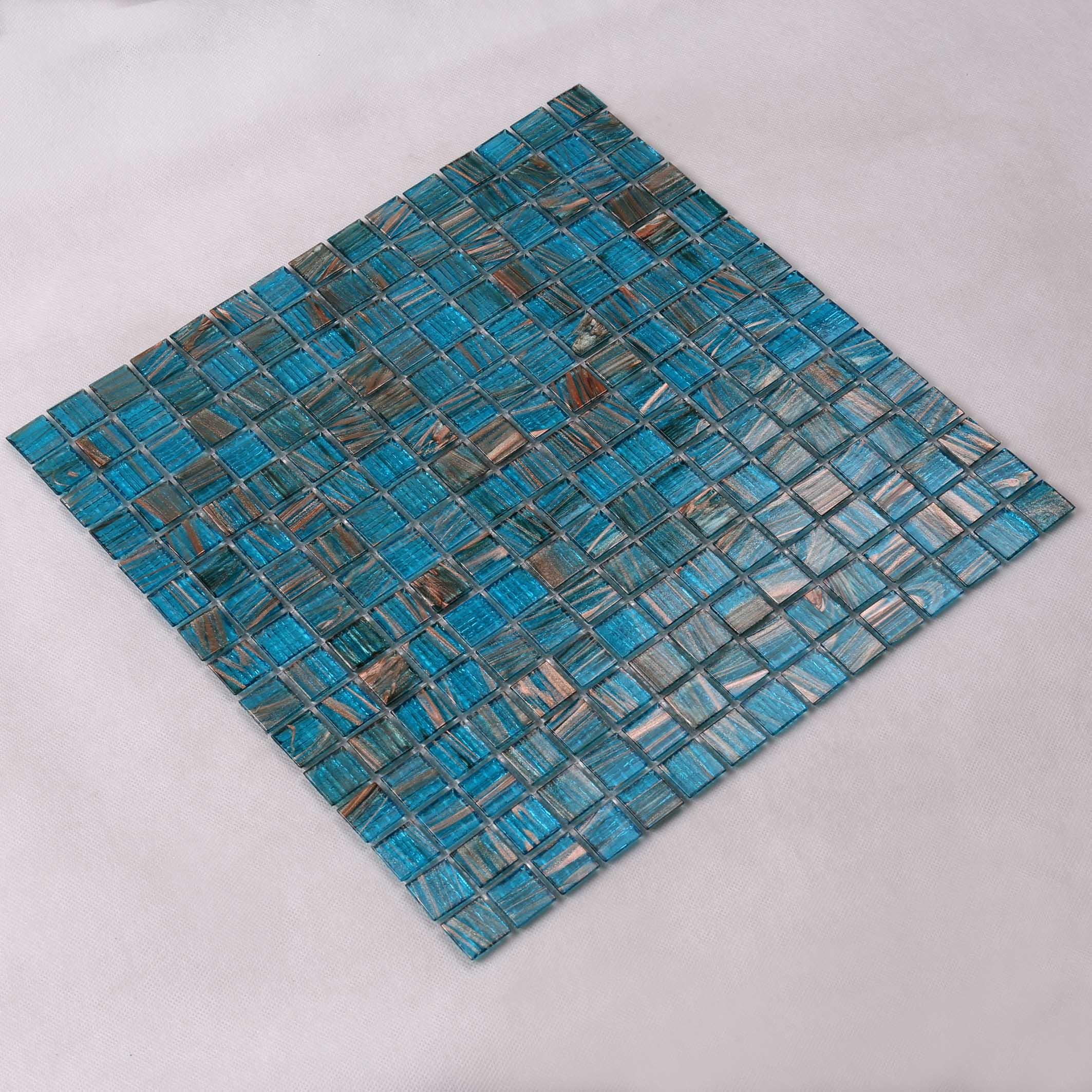 Top green glass mosaic tile floor supplier for spa-3