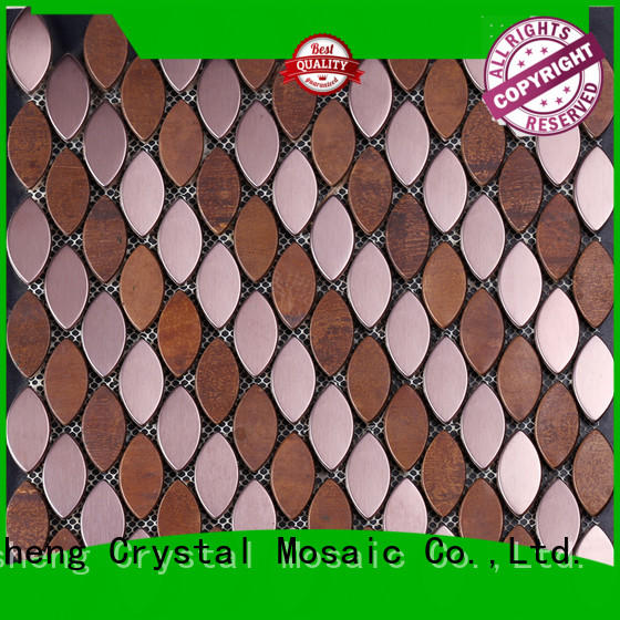 quality metal tile backsplash round series for villa