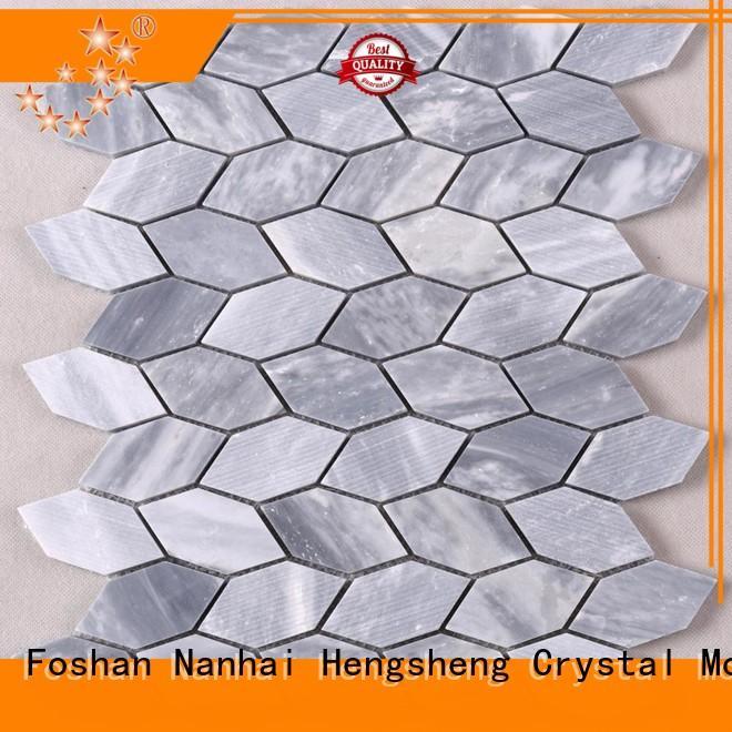 Heng Xing flower screenprinted glass mosaics manufacturers for kitchen
