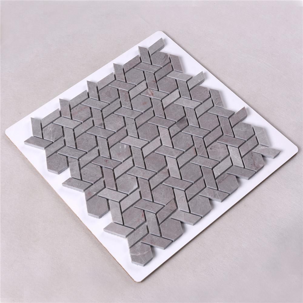 2x2 glass stone mosaic tile gray manufacturers for bathroom-2